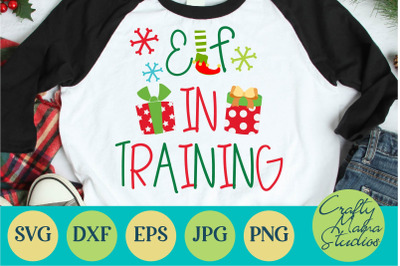 Elf In Training Svg, Christmas Presents Svg