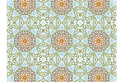 Pattern Abstract Blue Green Purple Brown Color