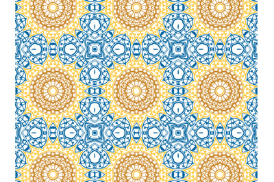 Pattern Abstract Sun Flower Navy Background