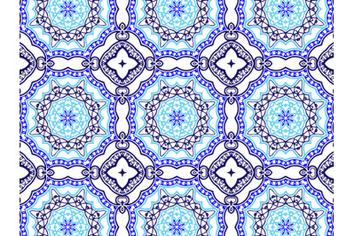 Pattern Abstract Navy And Blue Color