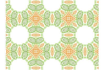 Pattern Abstract Green And Orange Color