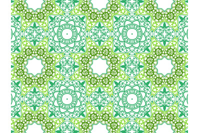 Pattern Abstract Green Color Combination