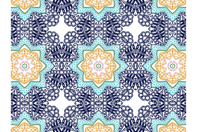 Pattern Abstract Blue Flower Navy Background