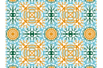 Pattern Abstract Blue Orange Green Color