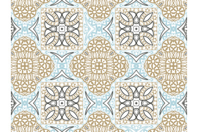 Pattern Abstract Blue And Brown Color