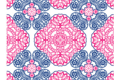 Pattern Abstract Navy And Pink Color