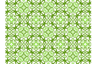 Pattern Abstract Green Color Design