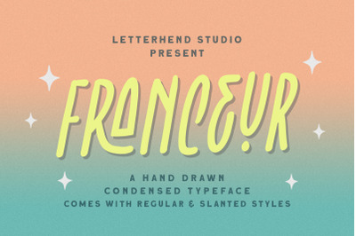 Franceur - Condensed Typeface