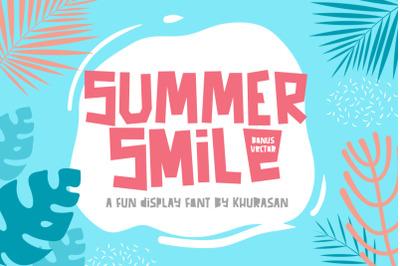 Summer Smile Font + Vector