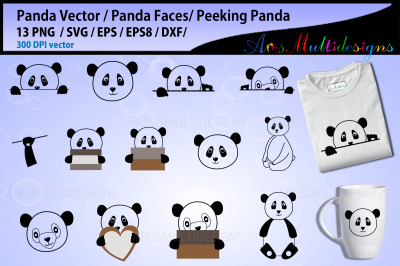 Panda Face SVG bundle