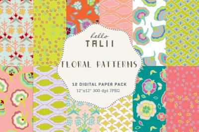 FLORAL PATTERNS DIGITAL PAPER