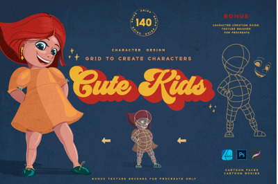 Cute Kids Grids for Procreate