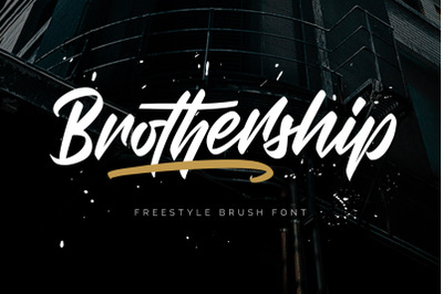 Brothership - Freestyle Brush Font
