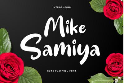Mike Samiya - Playful Font