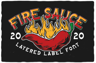 Fire Sauce Layered Font
