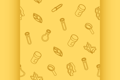 Biology outline isometric pattern