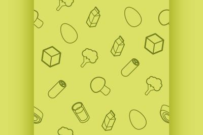 Vegeterian outline isometric pattern