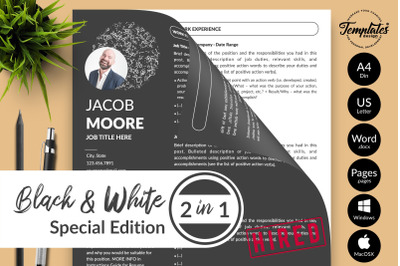Resume CV Template Bundle for Microsoft Word & Apple Pages Jacob Moore
