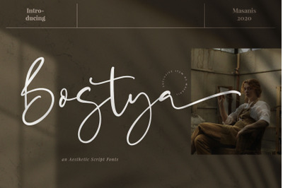 Bostya - Aesthetic Script