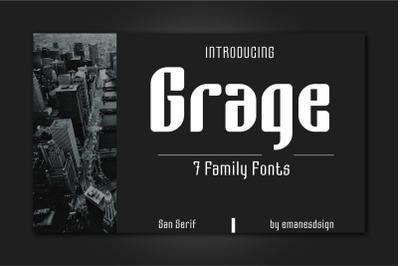Grage Sans Font Family