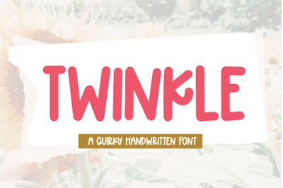 Twinkle - Handwritten Display Font