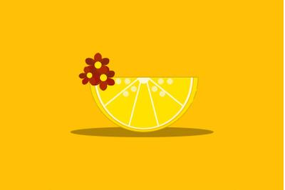 Summer icon with Lemon slice