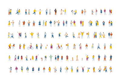 400+ Set of flat vector people