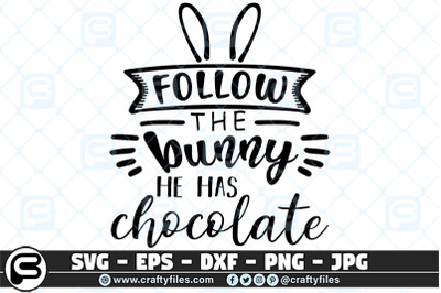 ollow thr bunny he has chocolate SVG cut file For cricut and silhouett