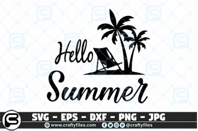 Hello Summer SVG, Welcome Summer SVG, Beach time SVG cut file