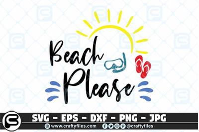 Beach Please SVG cut file, Sun SVG, Summer SVG, Flip flop SVG