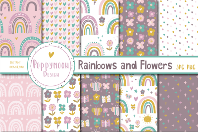 Rainbows and Flowers paper