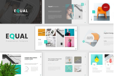 Equal - Minimal PowerPoint Template