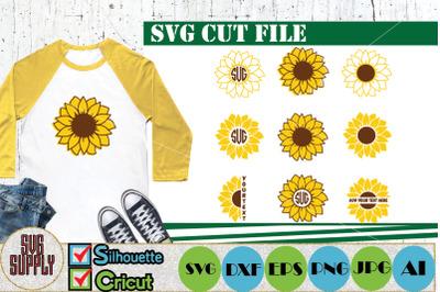 Sunflower SVG Cut File Bundle