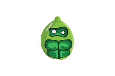 Lime Fruit Villain Cartoon Character