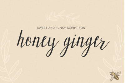 Honey Ginger Sweet and Funky Script