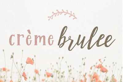 Creme Brulee Font Duo