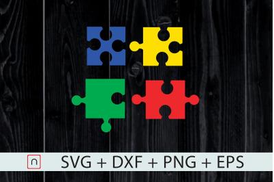 Autism Puzzle Colorful