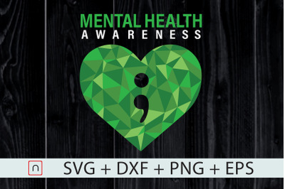 Heart Semicolon Mental Health Awareness