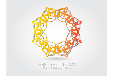 Logo Abstract Gradient Orange Color