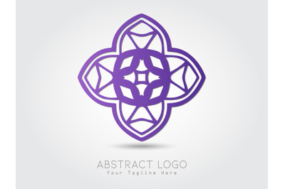 Logo Abstract Purple Color Elegant Design