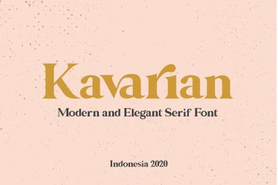 Kavarian Modern Elegant Serif Handmade Typeface