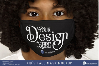 Face Mask Mockup, black | psd & jpg