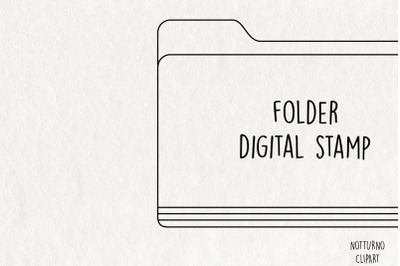 Folder Clipart SVG. Instant Download Printable.