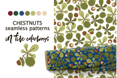 CHESTNUTS vector seamless patterns