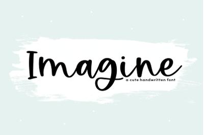 Imagine - Handwritten Script Font