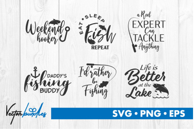 Fishing quote bundle svg