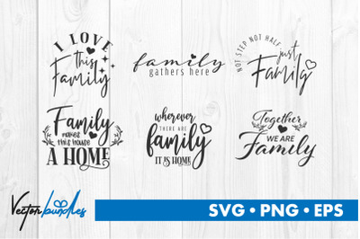 Family quote bundle svg