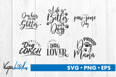 Dog quote bundle svg