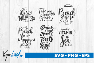Beach quote bundle svg