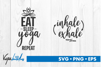 Yoga quote bundle svg